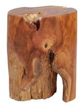 Petro Living Room Stool Chair, Brown Wood