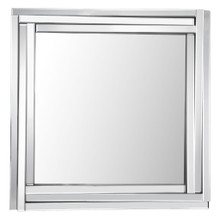 Fangle Living Room Mirror, Clear Glass