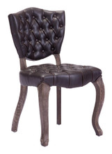 Leavenworth Kitchen Dining Dining Chair, Brown Leatherette (Set of 2)