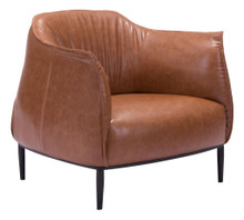 Julian Living Room Occasional Chair, Leatherette Brown