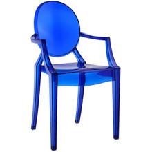 Casper Dining Armchair, Blue Plastic