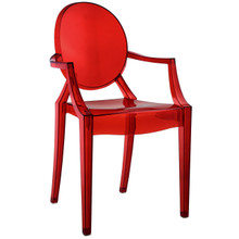 Casper Dining Armchair, Red Plastic