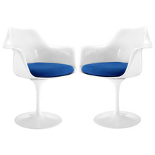 Lippa Dining Armchair Set of 2, Blue Plastic