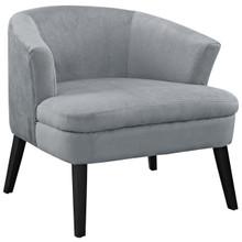 Bounce Wood Armchair, Grey Fabric