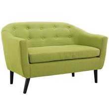 Wit Loveseat, Green Fabric