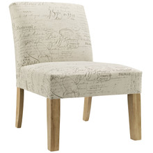 Auteur Fabric Side Chair, White Fabric