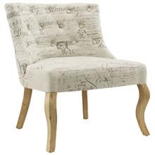 Royal Fabric Chair, White Fabric
