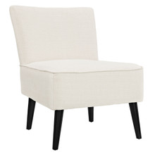 Reef Fabric Side Chair, Beige Fabric