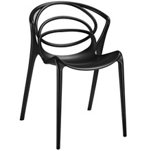 Locus Dining Side Chair, Black Indoor / Outdoor