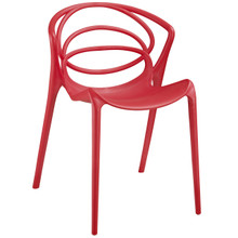 Locus Dining Side Chair, Red  Indoor / Outdoor