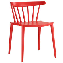 Spindle Dining Side Chair, Red Plastic