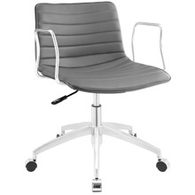 Celerity Office Chair, Grey Faux Leather
