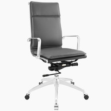 Sage Highback Office Chair, Grey Faux Leather