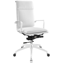 Sage Highback Office Chair, White Faux Leather