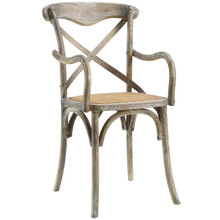 Gear Dining Armchair, Grey Wood
