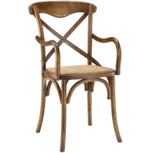 Gear Dining Armchair, Brown, Wood