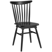 Amble Dining Side Chair, Black Wood