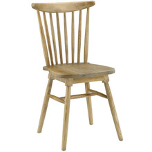Amble Dining Side Chair, Brown Wood