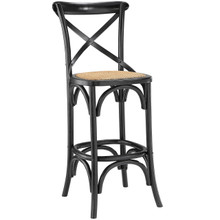 Gear Bar Stool, Black Wood