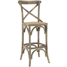 Gear Bar Stool, Grey Wood