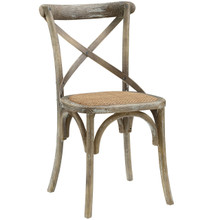 Gear Dining Side Chair, Grey Wood