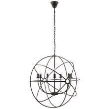 Atom Chandelier, Black Steel
