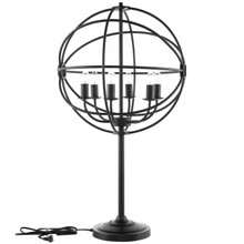 Atom Table Lamp, Black Steel