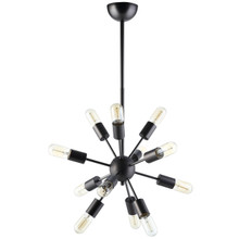 Spectrum Metal Chandelier, Black Steel