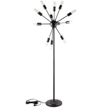 Spectrum Floor Lamp, Black Steel