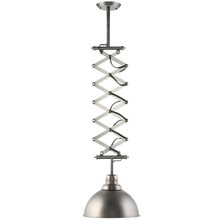 Extend Ceiling Fixture, Silver Steel