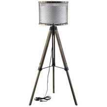 Fortune Floor Lamp, Silver Steel