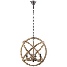 Intention Chandelier, Brown Steel
