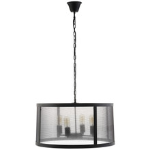 Frost Chandelier, Black Steel