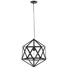 Hadron Large Metal Chandelier, Black Steel