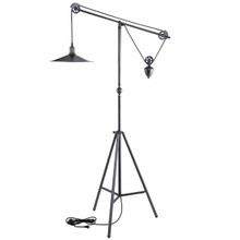 Credence Floor Lamp, Silver Steel
