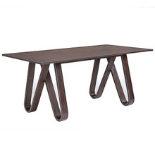 Cision Dining Table, Brown Wood