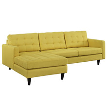 Empress Left-Arm Sectional Sofa, Yellow Fabric