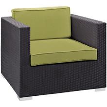 Convene Outdoor Patio Armchair, Green Plastic Fabric