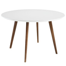 Canvas Dining Table in White