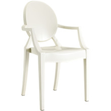 Casper Dining Armchair in White