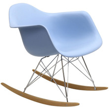 Rocker Lounge Chair in Blue