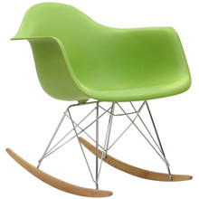 Rocker Lounge Chair in Green