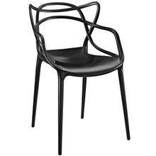Entangled Dining Armchair (Indoor and Outdoor), Black, Plastic