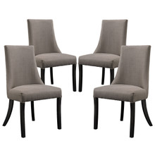 Reverie Dining Side Chair (Set of Four), Grey, Fabric