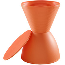 Haste  Stool, Orange, Plastic