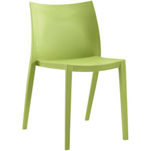 Gallant Dining Side Chair (Indoor and Outdoor), Green, Plastic