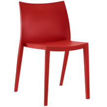 Gallant Dining Side Chair (Indoor and Outdoor), Red, Plastic