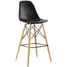Pyramid Bar Stool , Black, Plastic, Steel