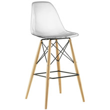 Pyramid Bar Stool , Clear, Plastic, Steel