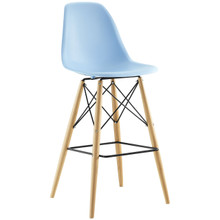 Pyramid Bar Stool , Blue, Plastic, Steel